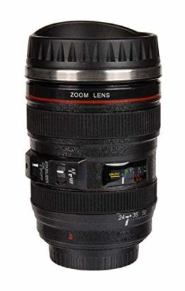 Becher Kameraobjektiv