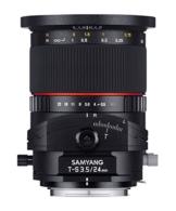 Samyang 24mm F3.5 T/S Objektiv für Anschluss Micro Four Thirds